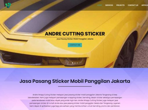 Andre Wrapp Cuting Sticker